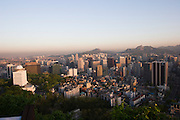 Mt. Namsan. Panoramic view over central Seoul.