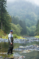 Fly fishing on the Oregon coast.