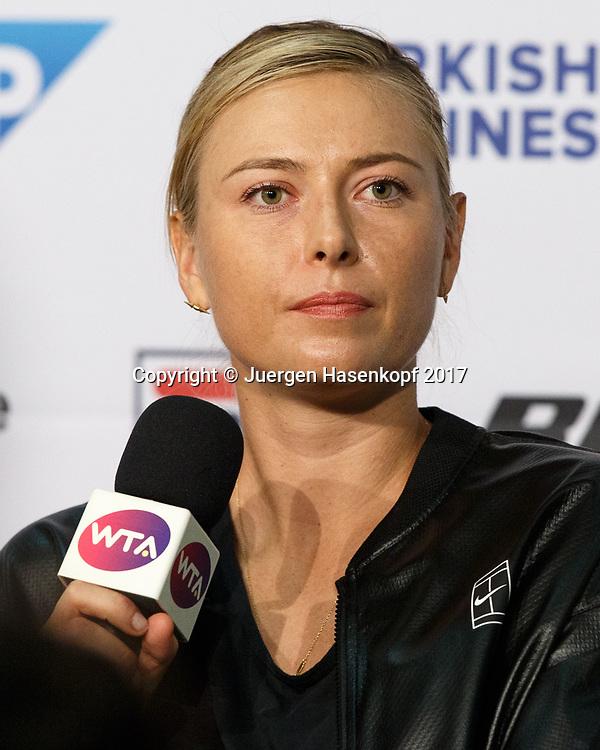MARIA SHARAPOVA (RUS), Pressekonfernz, Portrait<br /> <br /> Tennis - Porsche  Tennis Grand Prix 2017 -  WTA -  Porsche-Arena - Stuttgart -  - Germany  - 26 April 2017.