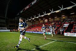 Bristol Rugby Hooker Chris Brooker (capt) leads his side out - Mandatory byline: Rogan Thomson/JMP - 22/01/2016 - RUGBY UNION - Ashton Gate Stadium - Bristol, England - Bristol Rugby v Ulster A - British & Irish Cup.