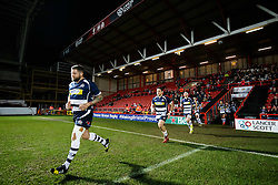 Bristol Rugby Hooker Chris Brooker (capt) leads his side out - Mandatory byline: Rogan Thomson/JMP - 22/01/2016 - RUGBY UNION - Ashton Gate Stadium - Bristol, England - Bristol Rugby v Ulster A - British & Irish Cup.