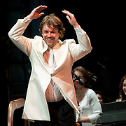 July 17, 2012 - New York, NY : Andrey Boreyko smiles after conducting the New York Philharmonic in Johannes Brahms's 'Symphony No. 1 in C minor, Op. 68 (1862-76)' in Central Park on Monday evening. CREDIT: Karsten Moran for The New York Times