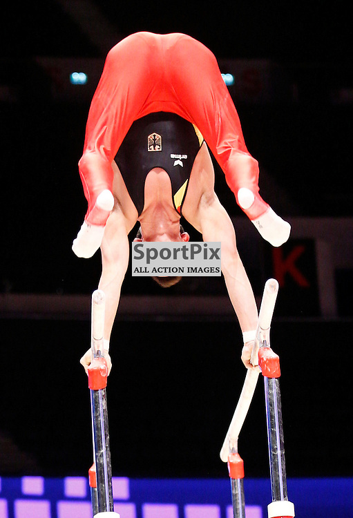 2015 Artistic Gymnastics World Championships being held in Glasgow from 23rd October to 1st November 2015...The German team practice session...(c) STEPHEN LAWSON   SportPix.org.uk