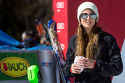 Ana Jelusic, FIS media co-ordinator, at medal ceremony during the 2nd Run of Men's Slalom - Pokal Vitranc 2014 of FIS Alpine Ski World Cup 2013/2014, on March 9, 2014 in Vitranc, Kranjska Gora, Slovenia. Photo by Matic Klansek Velej / Sportida