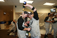 DETROIT - SEPTEMBER 29:  The Chicago White Sox celebrate winning the AL Central Division against the Detroit Tigers  on September 29, 2005.