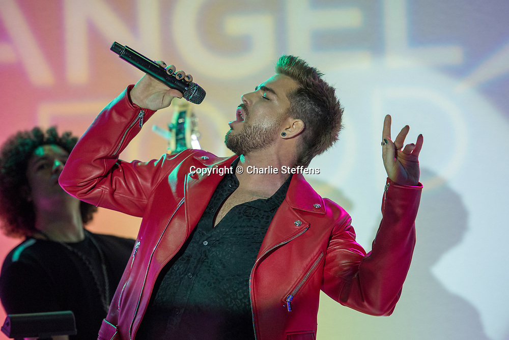 Adam Lambert<br /> Project Angel Food 'Angel Awards<br /> August 19, 2017<br /> Project Angel Food<br /> Los Angeles, California