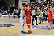 DESCRIZIONE : Beko Legabasket Serie A 2015- 2016 Playoff Quarti di Finale Gara3 Dinamo Banco di Sardegna Sassari - Grissin Bon Reggio Emilia<br /> GIOCATORE : Giacomo Devecchi Pietro Aradori<br /> CATEGORIA : Fair Play Postgame<br /> EVENTO : Beko Legabasket Serie A 2015-2016 Playoff<br /> GARA : Quarti di Finale Gara3 Dinamo Banco di Sardegna Sassari - Grissin Bon Reggio Emilia<br /> DATA : 11/05/2016<br /> SPORT : Pallacanestro <br /> AUTORE : Agenzia Ciamillo-Castoria/C.Atzori
