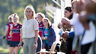 DEN HAAG - Coach Sonja Thomann (HDM).   hoofdklasse competitie dames. HDM-HUIZEN. COPYRIGHT KOEN SUYK