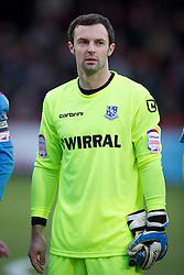 STEVENAGE, ENGLAND - Saturday, December 17, 2011: Tranmere Rovers' goalkeeper Paul Rachubka in action against Stevenage during the Football League One match at Broadhall Way. (Pic by David Rawcliffe/Propaganda)
