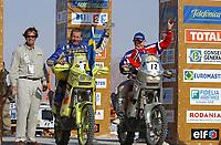 Motorsport, 19. januar 2003. Paris - Dakar, Pål Anders Ulevålseter, Norge og PG Lundmark<br /> Gilles Elevent , Digitalsport