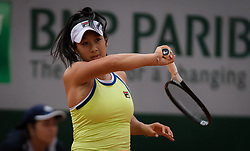 May 30, 2019 - Paris, FRANCE - Priscilla Hon of Australia in action during her second-round match at the 2019 Roland Garros Grand Slam tennis tournament (Credit Image: © AFP7 via ZUMA Wire)