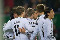 15-11-2011 VOETBAL: DUITSLAND - NEDERLAND: HAMBURG<br /> Jubel nach dem 1-0 durch Thomas Mueller nach vorlage Sami Khedira<br /> ***NETHERLANDS ONLY***<br /> ©2011-FRH- NPH/Kokenge