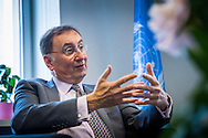 Janos Pasztor, UN Assistant Secretary-General on Climate Change, during an interview at the UNRIC office in Brussels 29 May 2015. Photo: Erik Luntang