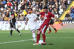 """Foto Filippo Rubin<br /> 08/04/2018 Cesena (Italia)<br /> Sport Calcio<br /> Cesena - Virtus Entella - Campionato di calcio Serie B ConTe.it 2017/2018 - Stadio """"Dino Manuzzi""""<br /> Nella foto: MONCINI GABRIELE (CESENA) VS SAMUELE MASSOLO (VIRTUS ENTELLA)<br /> <br /> Photo by Filippo Rubin<br /> April 08, 2018 Cesena (Italy)<br /> Sport Soccer<br /> Cesena vs Virtus Entella - Italian Football Championship League B 2017/2018 - """"Dino Manuzzi"""" Stadium <br /> In the pic: MONCINI GABRIELE (CESENA) VS SAMUELE MASSOLO (VIRTUS ENTELLA)"""
