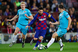November 5, 2019, Barcelona, Catalonia, Spain: November 5, 2019 - Barcelona, Spain - Uefa Champions League Stage Group, FC Barcelona v Slavia Praga: Lionel Messi of FC Barcelona dribbles Kudela of Slavia Prague. (Credit Image: © Eric Alonso/ZUMA Wire)
