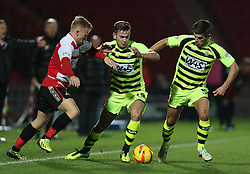 Yeovil Town's Joe Ralls battles with Doncaster Rovers' Mark Duffy-  - Photo mandatory by-line: Matt Bunn/JMP - Tel: Mobile: 07966 386802 22/11/2013 - SPORT - Football - Doncaster - Keepmoat Stadium - Doncaster Rovers v Yeovil Town - Sky Bet Championship