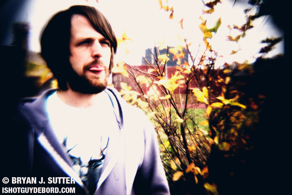 """St. Louis musician Mikey Wehling, captured with a """"digital Holga"""" in November 2011."""
