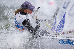 Marit Bouwmeester, a dutch silver medalist during the 2012 Olympics, sailing her laser radial on day three of Delta Lloyd Regatta 2015. She went on to win the event overall. (26/30 May 2015). Medemblik - the Netherlands.