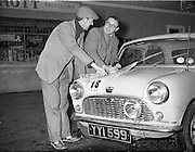14/11/1959<br /> 11/14/1959<br /> 14 November 1959<br /> Austin 7's that took part in the Cork Rally, assembled at Jobestown House, Tallaght, Co. Dublin, before the start. Car 18 Jimmy Millard and Dudley Reynolds.