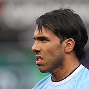 Carlos Tevez, Manchester City, during the Manchester City V Chelsea friendly exhibition match at Yankee Stadium, The Bronx, New York. Manchester City won the match 5-3. New York. USA. 25th May 2012. Photo Tim Clayton