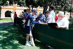 England's Mason Crane signs autographs during a nets session at Sydney Cricket Ground. PRESS ASSOCIATION Photo. Picture date: Tuesday January 2, 2018. See PA story CRICKET England. Photo credit should read: Jason O'Brien/PA Wire. RESTRICTIONS: Editorial use only. No commercial use without prior written consent of the ECB. Still image use only. No moving images to emulate broadcast. No removing or obscuring of sponsor logos.