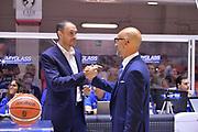 Esposito vincenzo, Vitucci Francesco Frank<br /> Happycasa Brindisi - Banco di Sardegna Sassari<br /> Legabasket SerieA 2018-2019<br /> Brindisi  21/10/2018<br /> Foto Ciamillo - Castoria / Michele Longo