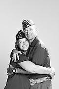 Dennis Kretzschmar<br /> Army<br /> E-9<br /> Infantry<br /> 1977 - 2013<br /> OEF<br /> <br /> Melanie Kretzschmar<br /> Army<br /> E-9<br /> 68W56, 79V<br /> May 1982 - Jun. 2012<br /> Desert Storm, OIF<br /> <br /> Veterans Portrait Project<br /> St. Louis, MO