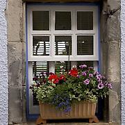 Old cottage window, Culross, West Fife, Scotland