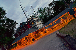 Night falls over Allen Lane train station. (Bas Slabbers/for NewsWorks)