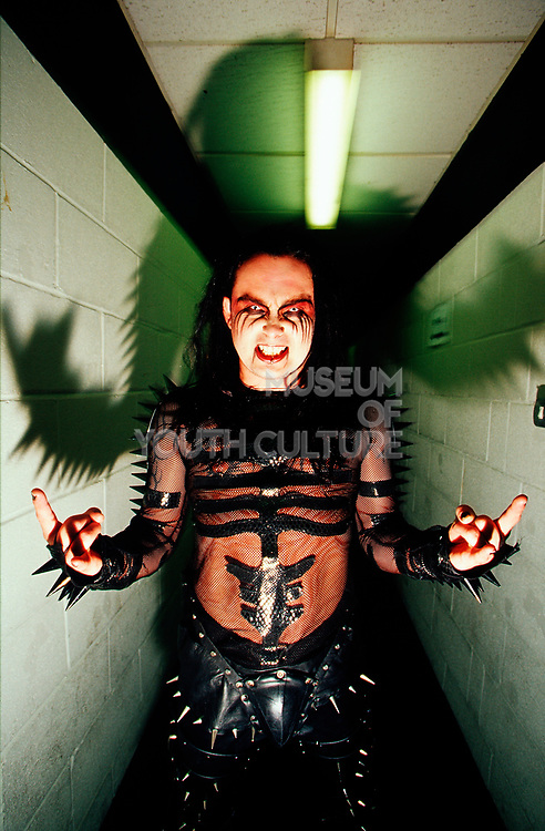 """Cradle Of Filth"" band member posing, UK 2000's"