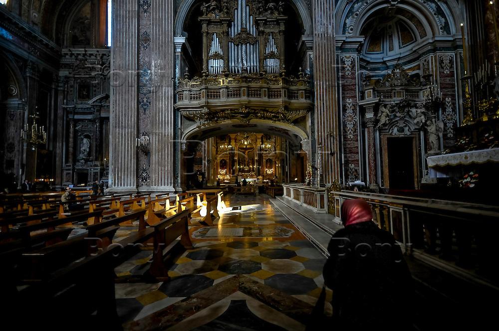 Gesù Nuovo's church, Naples, Italy.