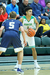24 November 2017: Intercity Boys Basketball game between the Bloomington HCentral Catholic Saints and the Normal University High Pioneers at Shirk Center in Bloomington Illinois