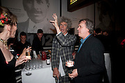 PIERS GOUGH; TONY ELLIOT, The Galleries of Modern London launch party at the Museum of London on May 27, 2010 in London. <br /> -DO NOT ARCHIVE-© Copyright Photograph by Dafydd Jones. 248 Clapham Rd. London SW9 0PZ. Tel 0207 820 0771. www.dafjones.com.