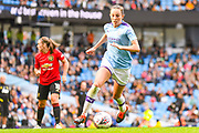Manchester City Women forward Caroline Weir (19) during the FA Women's Super League match between Manchester City Women and Manchester United Women at the Sport City Academy Stadium, Manchester, United Kingdom on 7 September 2019.