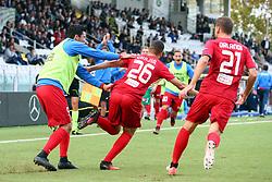 """Foto /Filippo Rubin<br /> 28/10/2017 Cesena (Italia)<br /> Sport Calcio<br /> Cesena vs Novara - Campionato di calcio Serie B ConTe.it 2017/2018 - Stadio """"Dino Manuzzi""""<br /> Nella foto: GOAL NOVARA MOUTIR CHAJIA<br /> <br /> Photo /Filippo Rubin<br /> October 28, 2017 Cesena (Italy)<br /> Sport Soccer<br /> Cesena vs Novara - Italian Football Championship League B ConTe.it 2017/2018 - """"Dino Manuzzi"""" Stadium <br /> In the pic: GOAL NOVARA MOUTIR CHAJIA"""