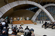San Giovanni Rotondo (FG) Italy 24.04.2008 Italy - The body of Padre Pio, a hugely popular 20th century Italian saint, went on public display  in a southern Italian town where thousands gathered to pray. .