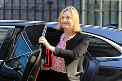 © Licensed to London News Pictures. 14/05/2019. London, UK. Amber Rudd - Secretary of State for Work and Pensions arrives in Downing Street for the weekly Cabinet meeting. Photo credit: Dinendra Haria/LNP