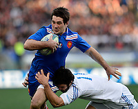 Rome, Italy -Michalak and Mclean during Italia vs Francia race of the championship rugby SIX NATIONS played at the Olimpico in Rome.(Credit Image: © Gilberto Carbonari/).