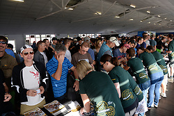 Riders obtaining their registration packs from volunteers during the pre race events held at the V&A Waterfront in Cape Town prior to the start of the 2017 Absa Cape Epic Mountain Bike stage race held in the Western Cape, South Africa between the 19th March and the 26th March 2017<br /> <br /> Photo by Emma Hill/Cape Epic/SPORTZPICS<br /> <br /> PLEASE ENSURE THE APPROPRIATE CREDIT IS GIVEN TO THE PHOTOGRAPHER AND SPORTZPICS ALONG WITH THE ABSA CAPE EPIC<br /> <br /> ace2016