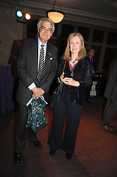 LADY CAROLINE PERCY and the MARQUESS OF LONDONDERRY at a party to celebrate the publication of 'Past Imperfect' by Julian Fellowes held at Cadogan Hall, 5 Sloane Terrace, London SW1 on 4th November 2008.