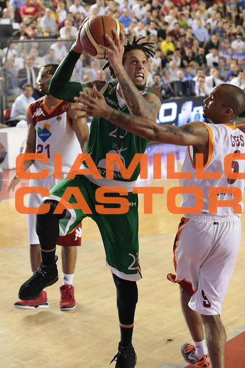 DESCRIZIONE : Roma Lega A 2012-2013 Acea Roma Montepaschi Siena finale gara 2<br /> GIOCATORE : Daniel Hackett<br /> CATEGORIA : equilibrio<br /> SQUADRA : Montepaschi Siena<br /> EVENTO : Campionato Lega A 2012-2013 playoff finale gara 2<br /> GARA : Acea Roma Montepaschi Siena<br /> DATA : 13/06/2013<br /> SPORT : Pallacanestro <br /> AUTORE : Agenzia Ciamillo-Castoria/M.Simoni<br /> Galleria : Lega Basket A 2012-2013  <br /> Fotonotizia : Roma Lega A 2012-2013 Acea Roma Montepaschi Siena playoff finale gara 2<br /> Predefinita :