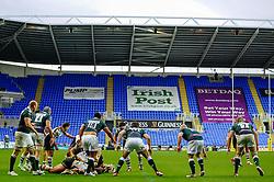 London Irish defence strongly against Harlequins pressure at the end of the second half of the match - Photo mandatory by-line: Rogan Thomson/JMP - Tel: Mobile: 07966 386802 28/10/2012 - SPORT - RUGBY - Madejski Stadium - Reading. London Irish v Harlequins - Aviva Premiership