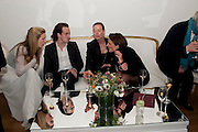PIPPA VOSPER;; ROBERT FRY;  DEE STIRLING; GILLIAN CROTTY - THE LAUNCH OF THE KRUG HAPPINESS EXHIBITION AT THE ROYAL ACADEMY, London. 12 December 2011.