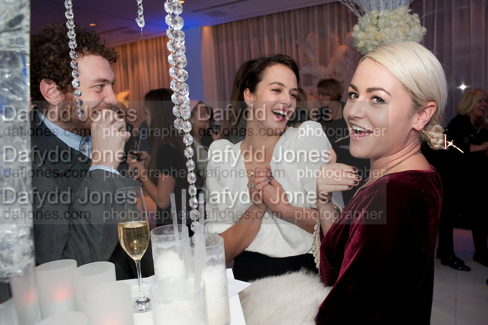 TOM BEARD; JESSICA BROWN FINDLAY; JAIME WINSTONE, English National Ballet's party before performance of the ' The Nutcracker. St. Martin's Lane Hotel. London 14 December 2011.