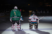 KELOWNA, CANADA - MARCH 17:  Pepsi Player of the Game with James Porter #1 of the Kelowna Rockets at the Kelowna Rockets game on March 17, 2018 at Prospera Place in Kelowna, British Columbia, Canada.  (Photo By Cindy Rogers/Nyasa Photography,  *** Local Caption ***
