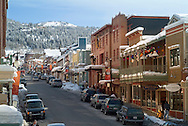 winter during day on Main Street, Park City, Utah