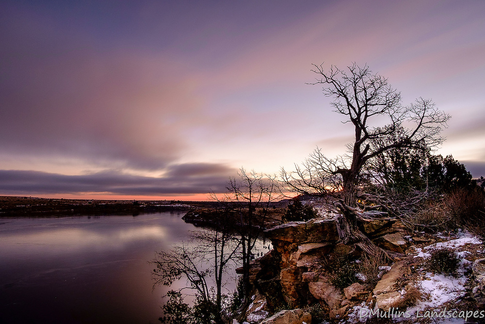 Dawn at Clayton Lake State Park.<br />