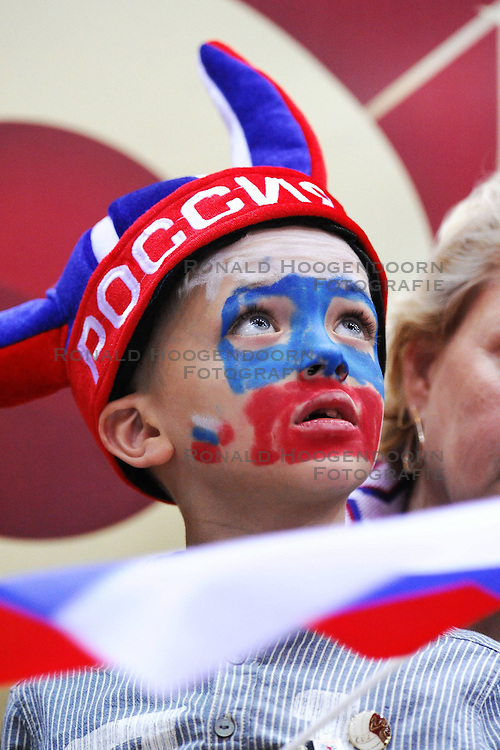 07.09.2014, Ergo Arena, Danzig, POL, FIVB WM, Russland vs Bulgarien, Gruppe C, im Bild KIBIC ROSJI RUSSIAN SUPPORTERS KIBICE FAN FANS // during the FIVB Volleyball Men's World Championships Pool C Match beween Russia and Bulgaria at the Ergo Arena in Danzig, Poland on 2014/09/07. <br /> <br /> ***NETHERLANDS ONLY***