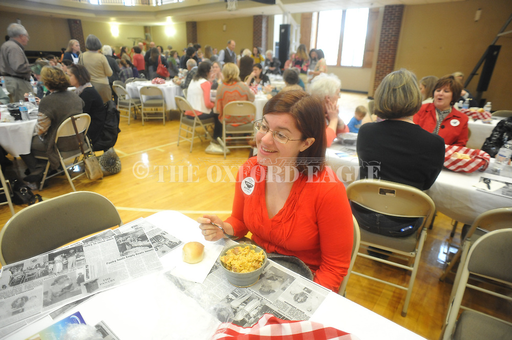 Rebecca Lauck Cleary attends the Empty Bowls fundraiser at Oxford University United Methodist Church in Oxford, Miss. on Thursday, February 7, 2013. The event benefits the Pantry.