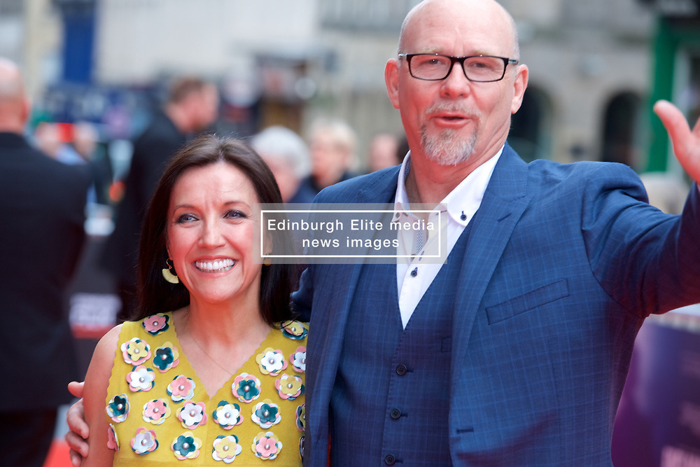 "Mia Sara and Jason Connery, on the red carpet at the Edinburgh International Film Festival world Premier of ""England is Mine"" at Edinburgh's Festival Theatre. Sunday, 2nd July, 2017(c) Brian Anderson 